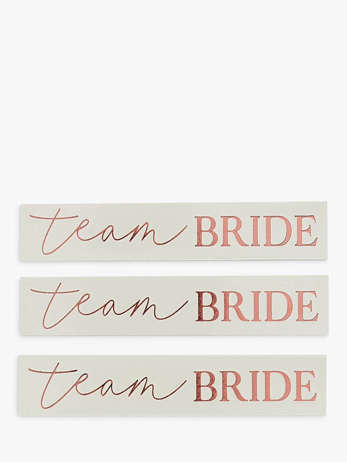 Ginger Ray Ginger Ray Rose Gold Team Bride Temporary Tattoos