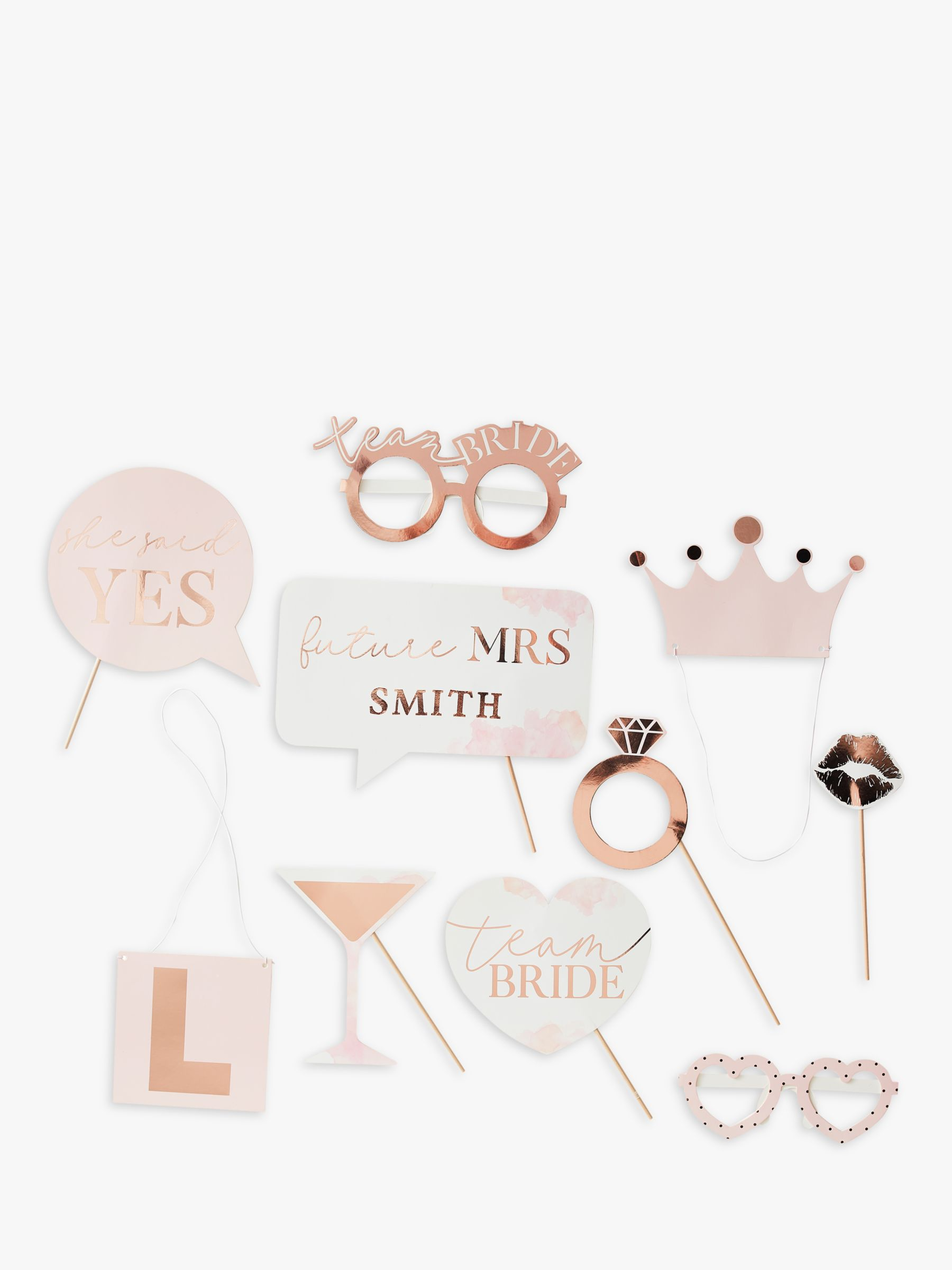 Ginger Ray Ginger Ray Rose Gold Wedding Photobooth Props