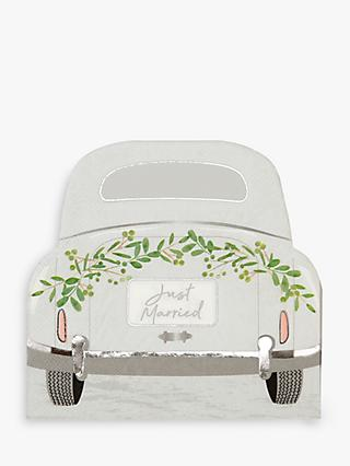 Talking Tables Just Married Car Disposable Napkins, Pack of 16