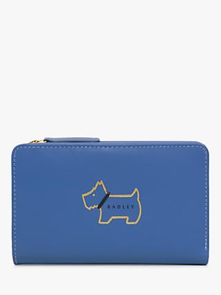 Radley Heritage Dog Outlined Medium Leather Zip Purse