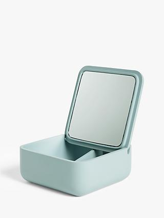 John Lewis & Partners Square Resin Jewellery Box with Mirror