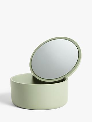 John Lewis & Partners Round Foldaway Jewellery Box with Mirror