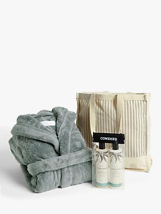 Soho Home Bath Robe, Shower Gel and Body Lotion Gift Set