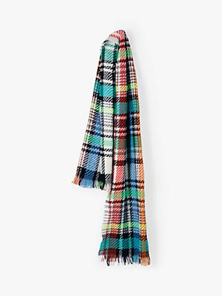 hush Emelie Check Print Wide Scarf, Multi