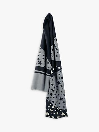 hush Camille Cashmere Star Scarf, Black/Grey