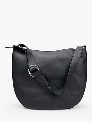 hush Diane Leather Shoulder Bag, Black