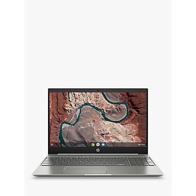 Image of HP 15-de0002na Chromebook Laptop, Intel Core i3 Processor, 8G RAM, 128GB eMMC, 15.6, Silver White