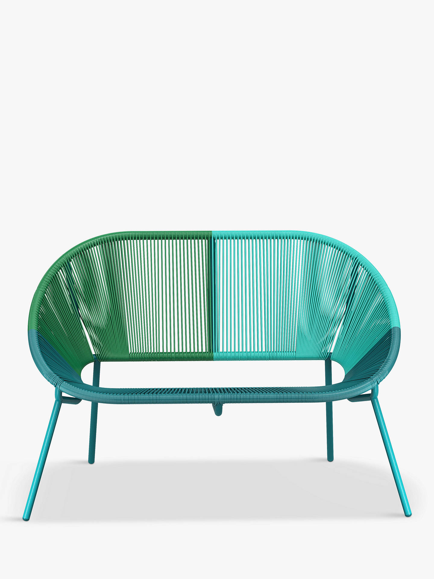 Buy House by John Lewis Salsa 2-Seater Garden Sofa, Aegean Ombre Online at johnlewis.com