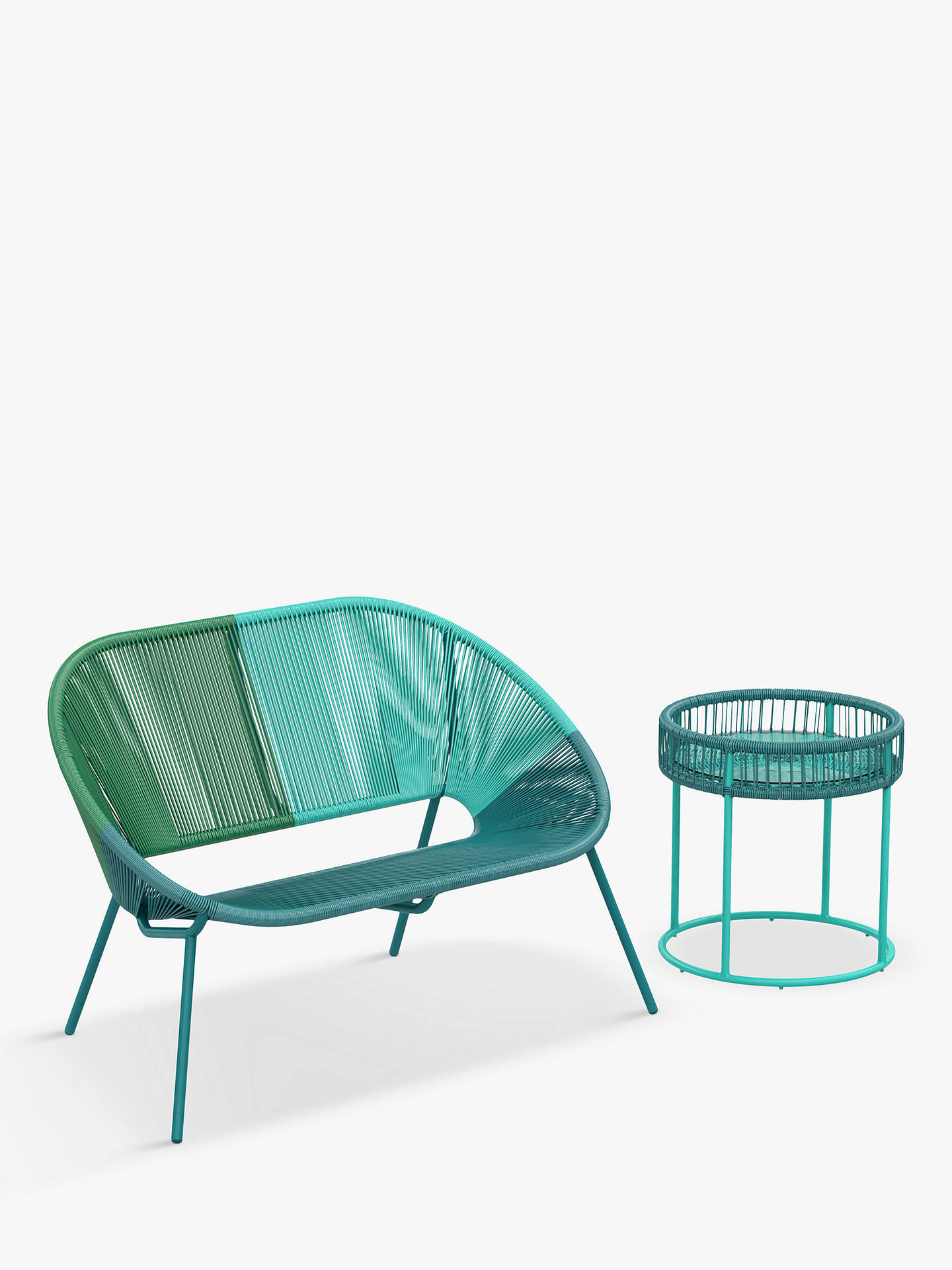 Buy House by John Lewis Salsa Round Garden Side Table, 50cm, Aegean Ombre Online at johnlewis.com