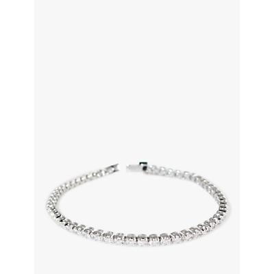 E.W Adams 18ct White Gold Diamond Tennis Bracelet