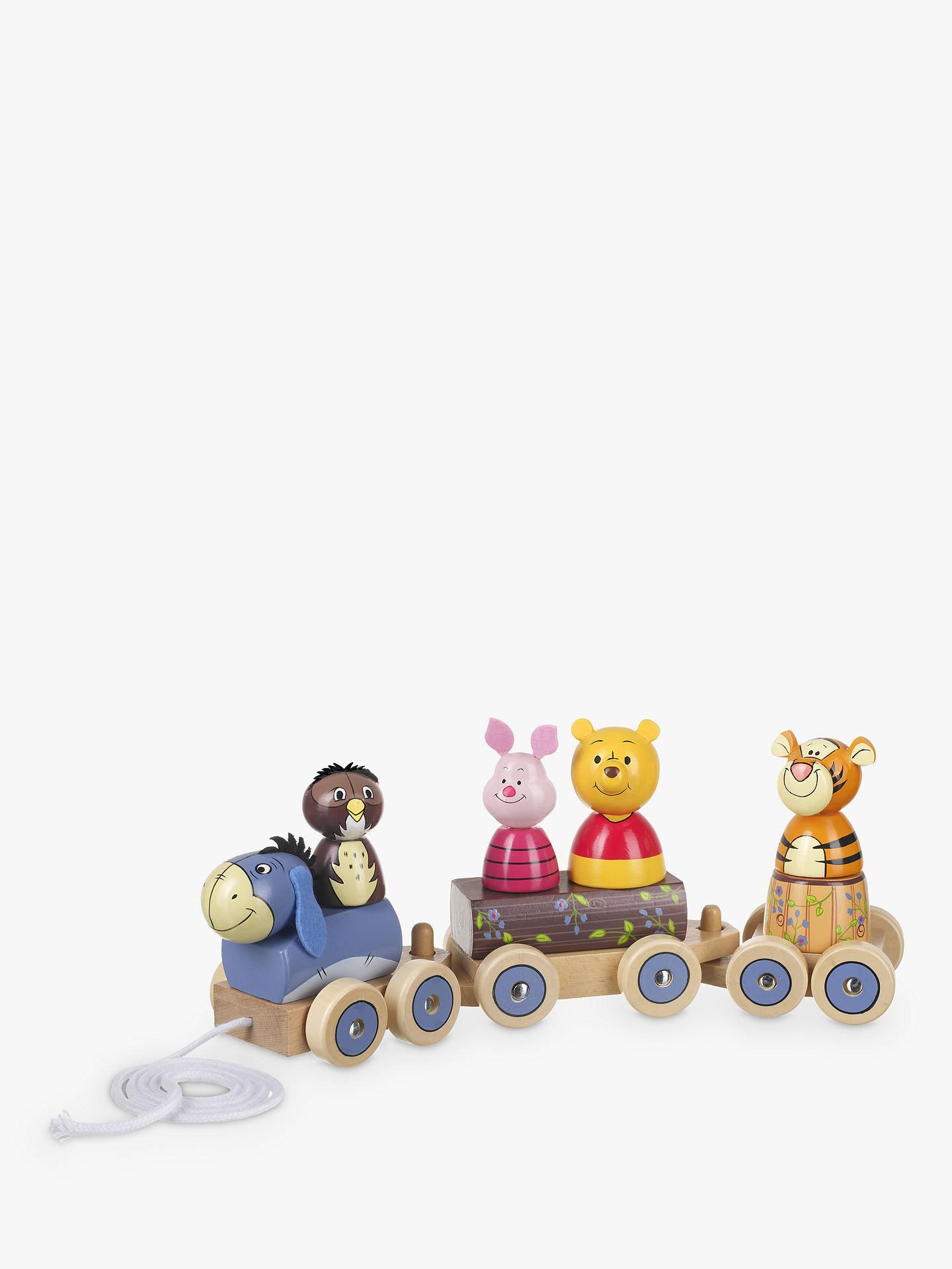 Orange Tree Winnie The Pooh Train Pull Along Wooden Toy