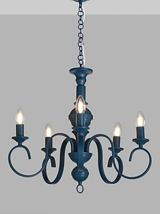 John Lewis & Partners Baroque Crystal Chandelier Ceiling Light, ClearBlue