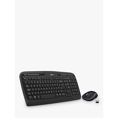 Image of Logitech MK330 Wireless Keyboard and Mouse, Black