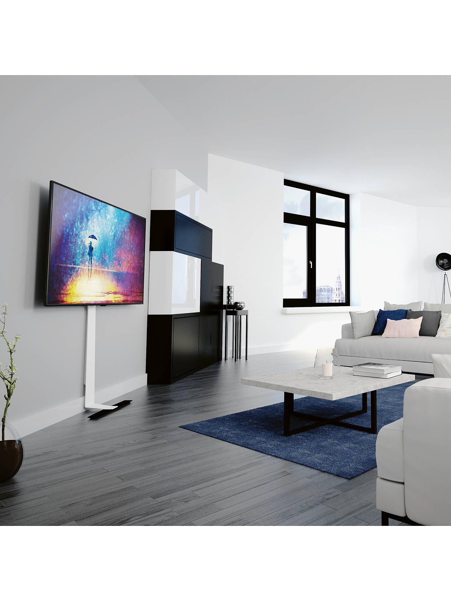 Avf Fl601lt Against The Wall Standing Tv Mount For Tvs Up To 80 At John Lewis Partners