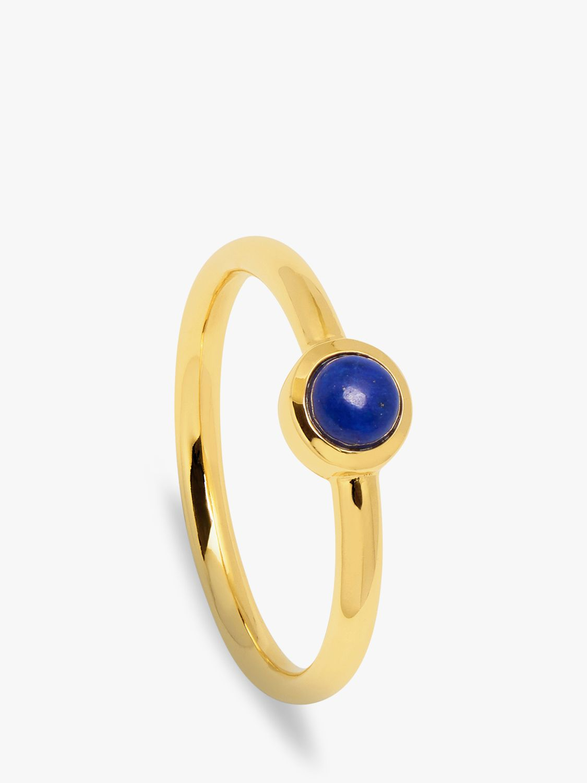 Lola Rose Lola Rose Curio Semi-Precious Stone Mini Stud Ring, Lapis Lazuli
