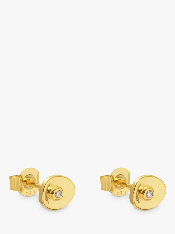Lola Rose Lola Rose Curio Mini Coin Charm Stud Earrings, Gold