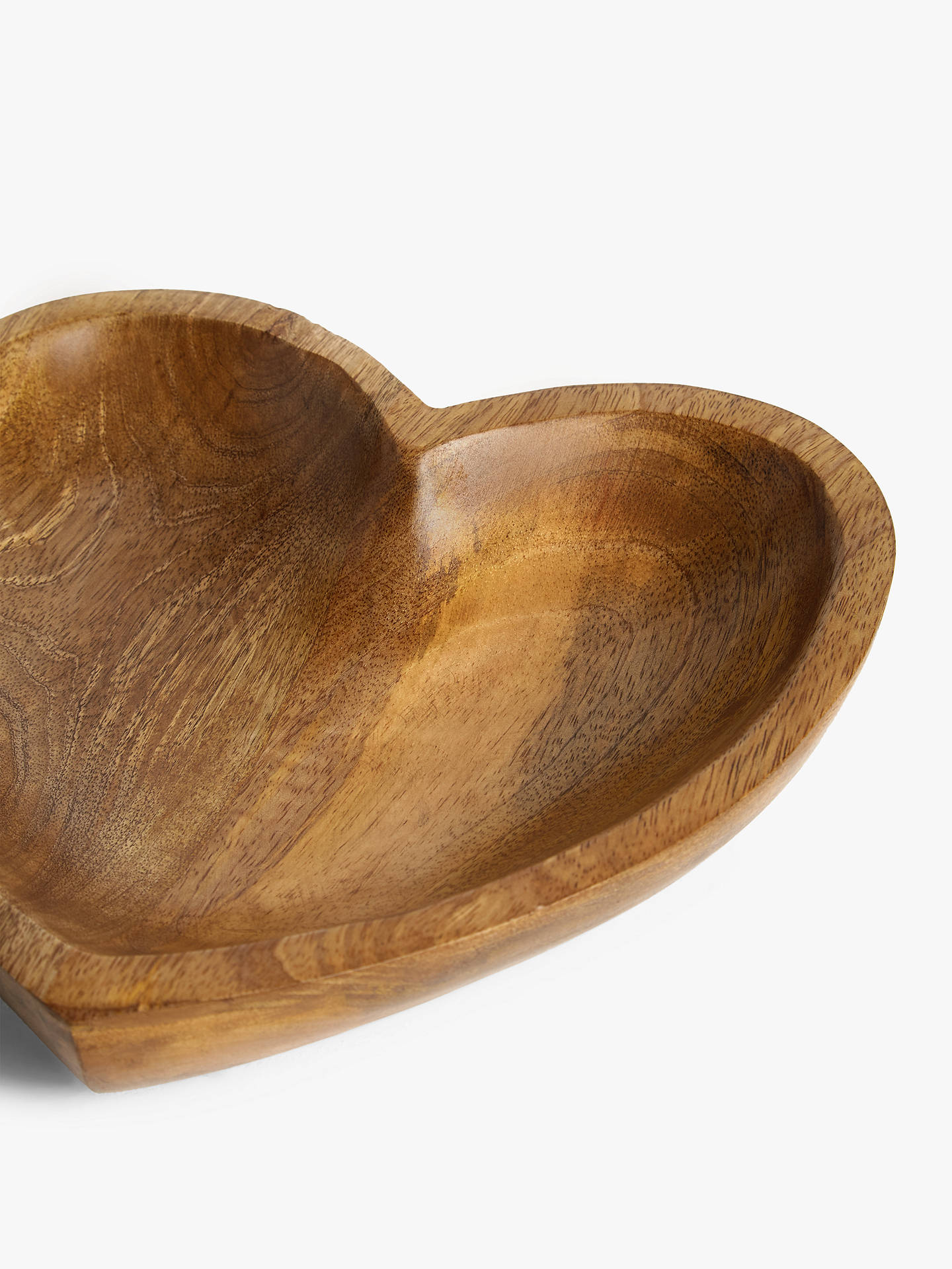 Buy John Lewis & Partners Large Mango Wood Heart Bowl, 25cm, Natural Online at johnlewis.com