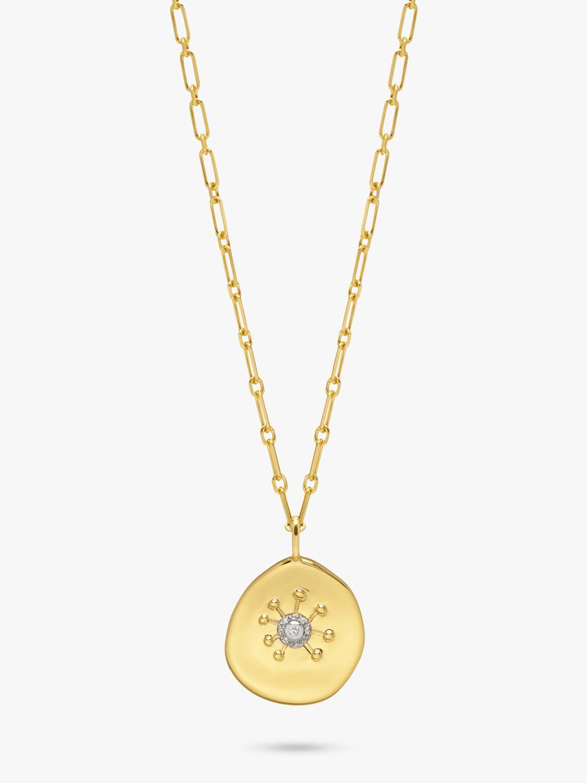 Lola Rose Lola Rose Curio Zircon Sun Coin Pendant Necklace, Gold