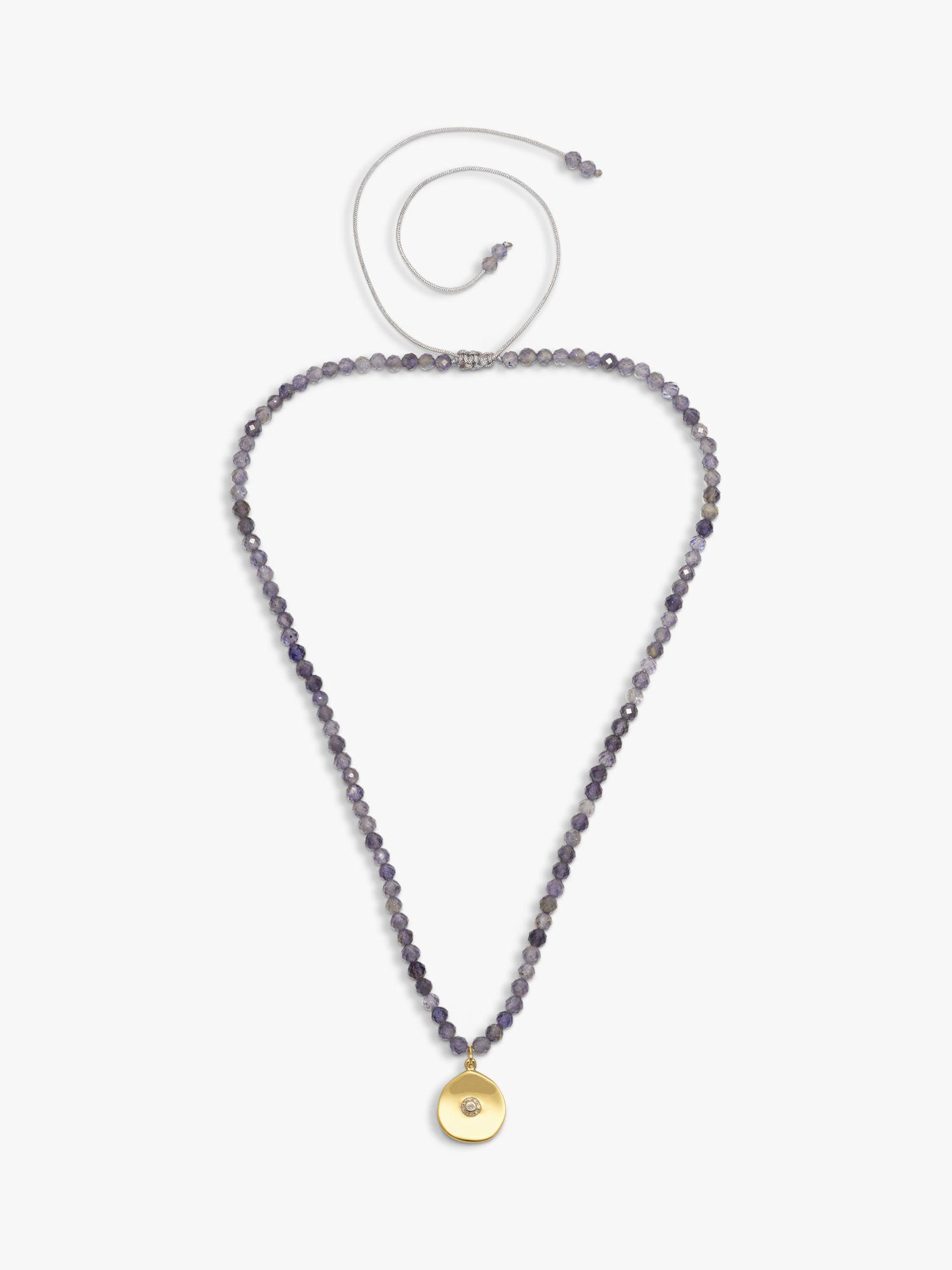 Lola Rose Lola Rose Curio Semi-Precious Bead Coin Pendant Necklace
