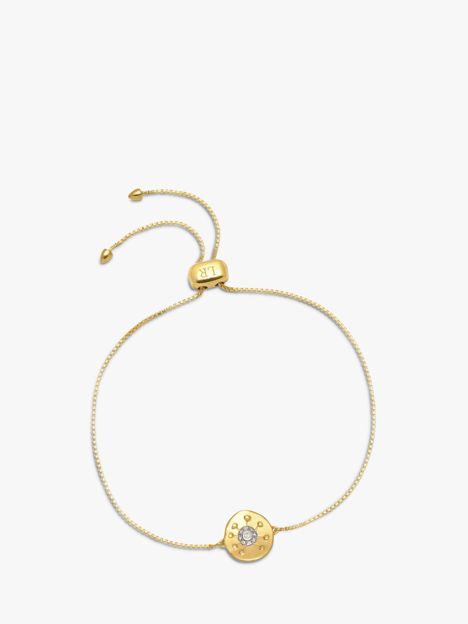 Lola Rose Lola Rose Curio Zircon Sun Coin Slider Chain Bracelet, Gold
