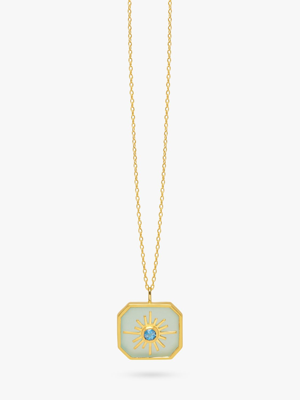 Lola Rose Lola Rose Curio Semi-Precious Stone Celestial Octagonal Pendant Necklace