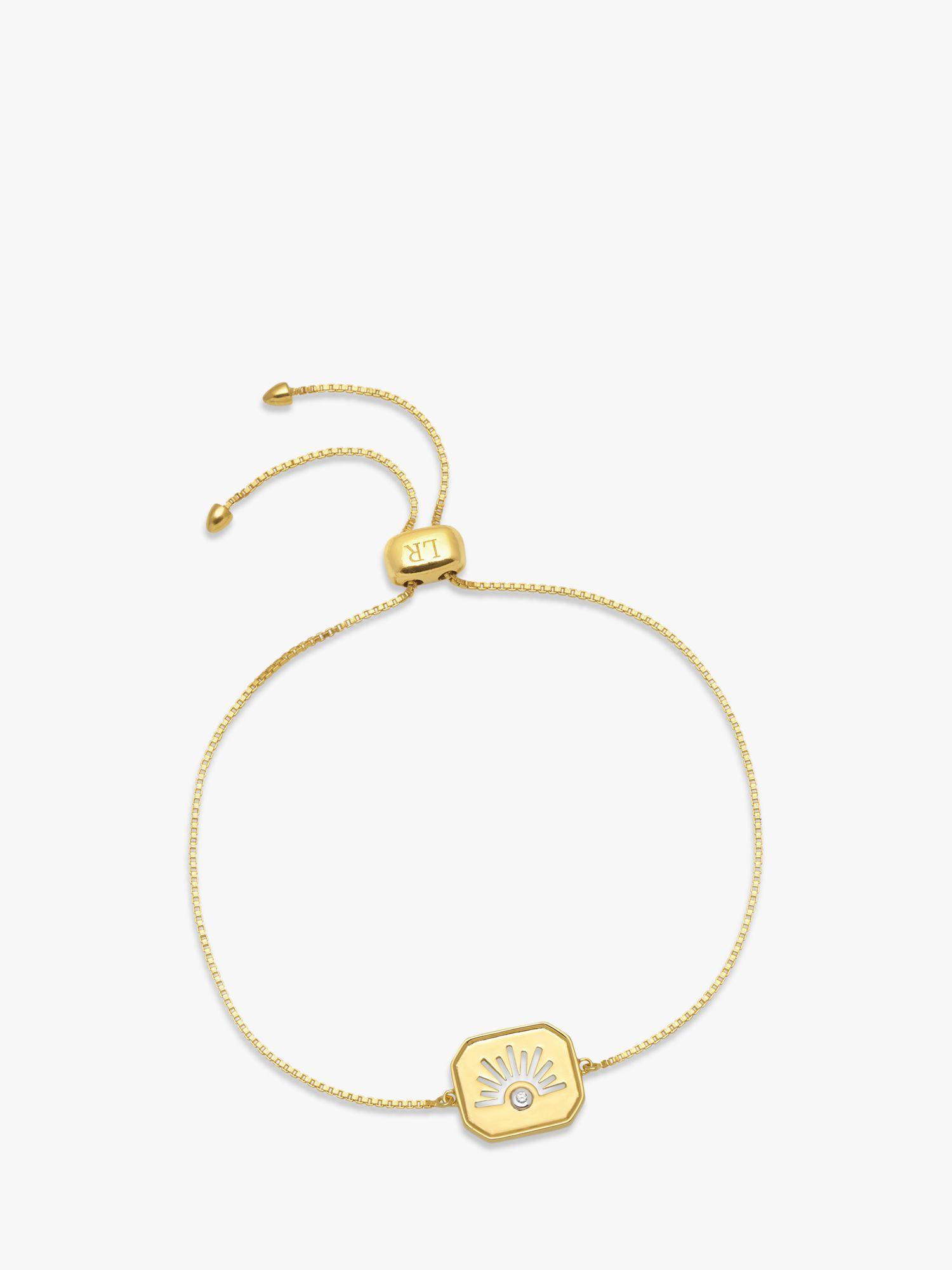 Lola Rose Lola Rose Curio Celestial Zircon Slider Chain Bracelet, Gold