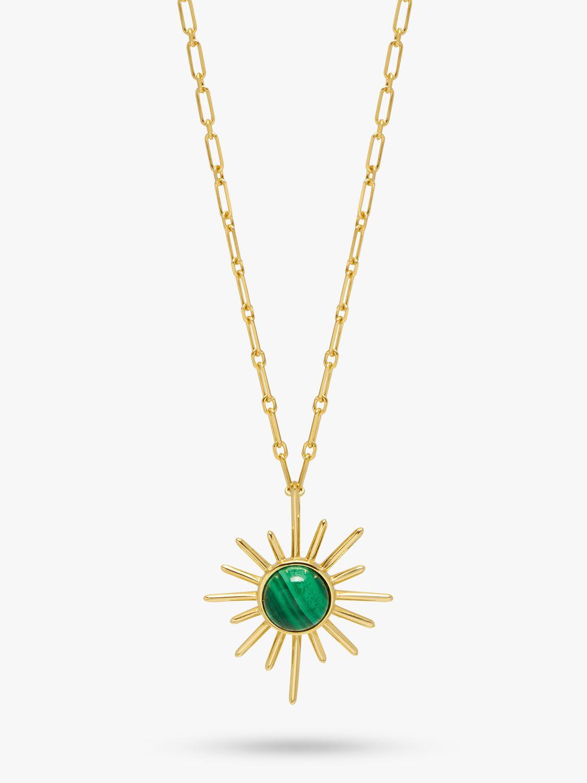 Lola Rose Lola Rose Curio Semi-Precious Stone Celestial Sunburst Pendant Necklace