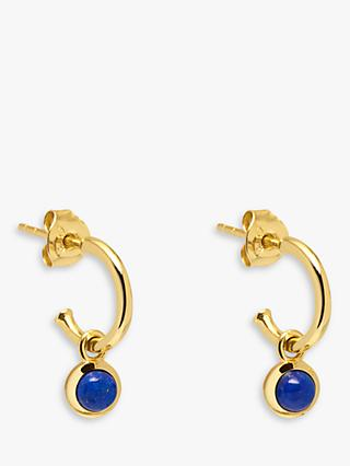 Lola Rose Curio Semi-Precious Stone Drop Huggie Hoop Earrings