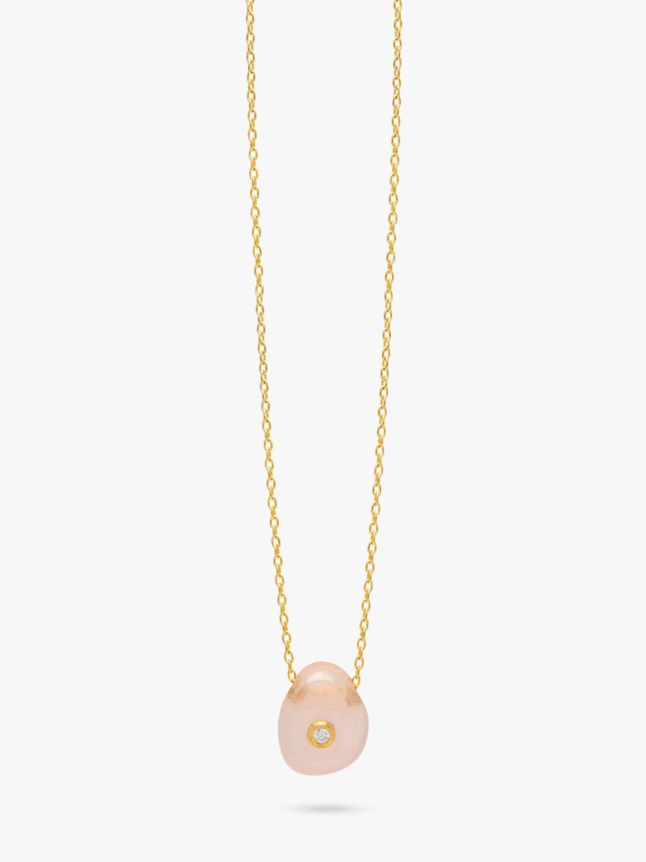 Lola Rose Lola Rose Curio Zircon and Semi-Precious Stone Organic Pendant Necklace