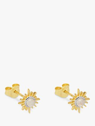 Lola Rose Curio Semi-Precious Stone Celestial Sunburst Stud Earrings