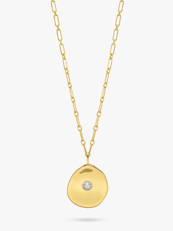 Lola Rose Lola Rose Curio Zircon Coin Pendant Necklace, Gold