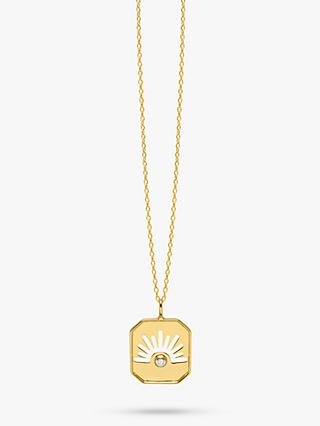 Lola Rose Curio Celestial Zircon Pendant Necklace, Gold