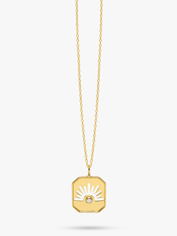 Lola Rose Lola Rose Curio Celestial Zircon Pendant Necklace, Gold