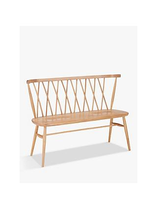 ercol for John Lewis Shalstone 2 Seater Dining Bench, Oak