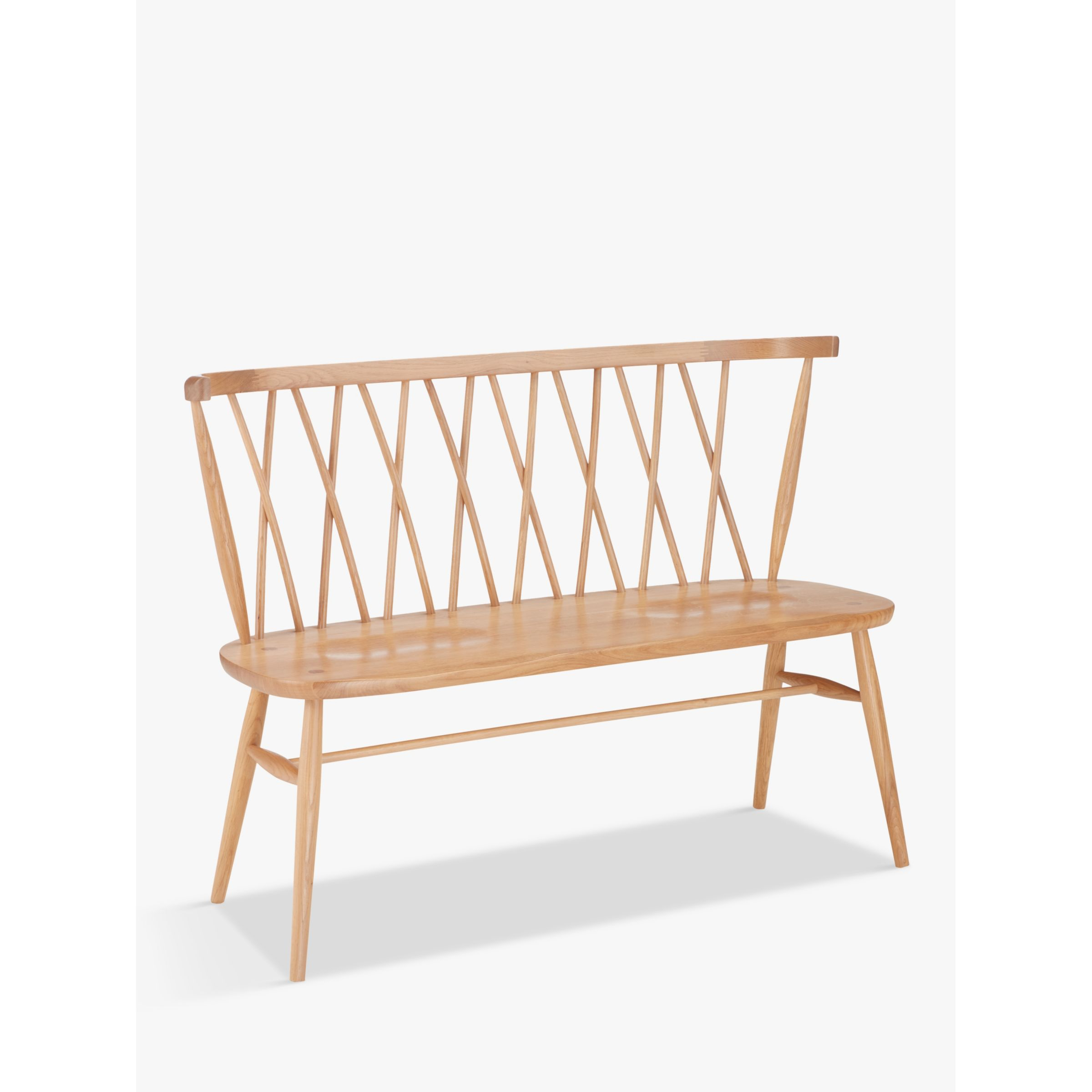 ercol for John Lewis ercol for John Lewis Shalstone 2 Seater Dining Bench, Oak