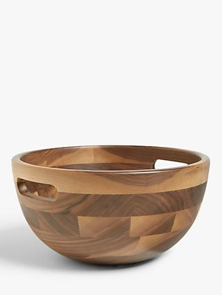 LEON Black Walnut Salad Bowl, Dia.25cm