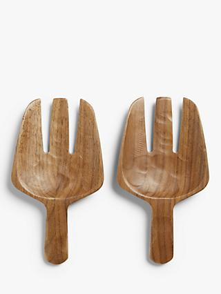 LEON Black Walnut Salad Hands, Pair
