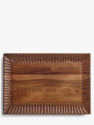 Buy John Lewis & Partners Fusion Acacia Wood Platter, Natural Online at johnlewis.com
