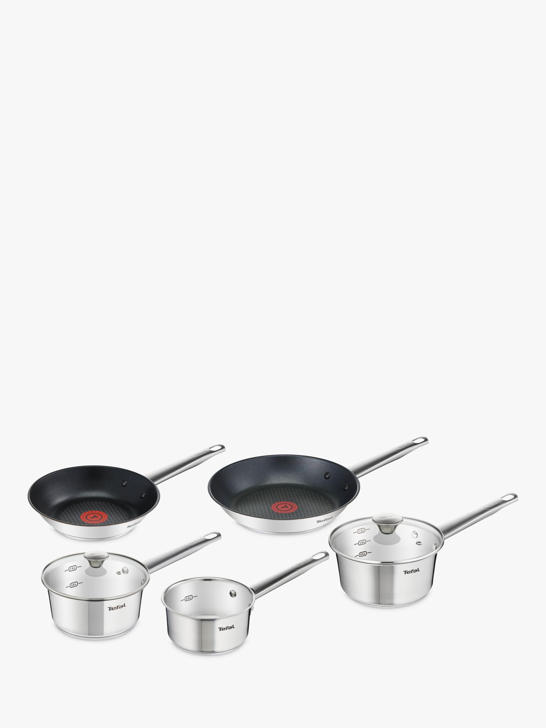 Tefal Tefal Simpleo Stainless Steel Frying Pan & Saucepan Set, 5 Piece
