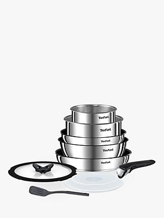 Tefal Ingenio Emotion Stainless Steel Frying and Saucepan Set, 10 Piece