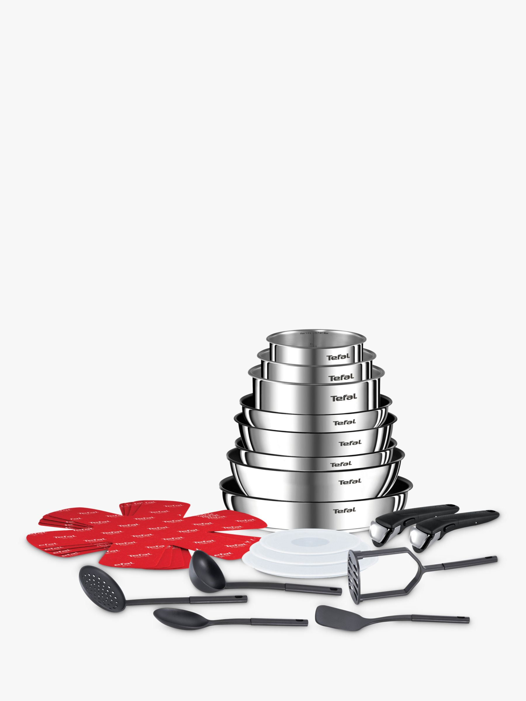 Tefal Tefal Ingenio Emotion Stainless Steel Frying and Saucepan Set, 22 Piece