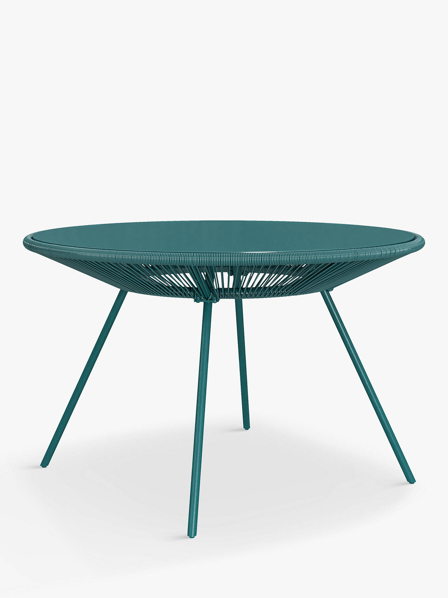 Buy House by John Lewis Salsa 4-Seat Round Garden Table & Chairs Set, Aegean Online at johnlewis.com