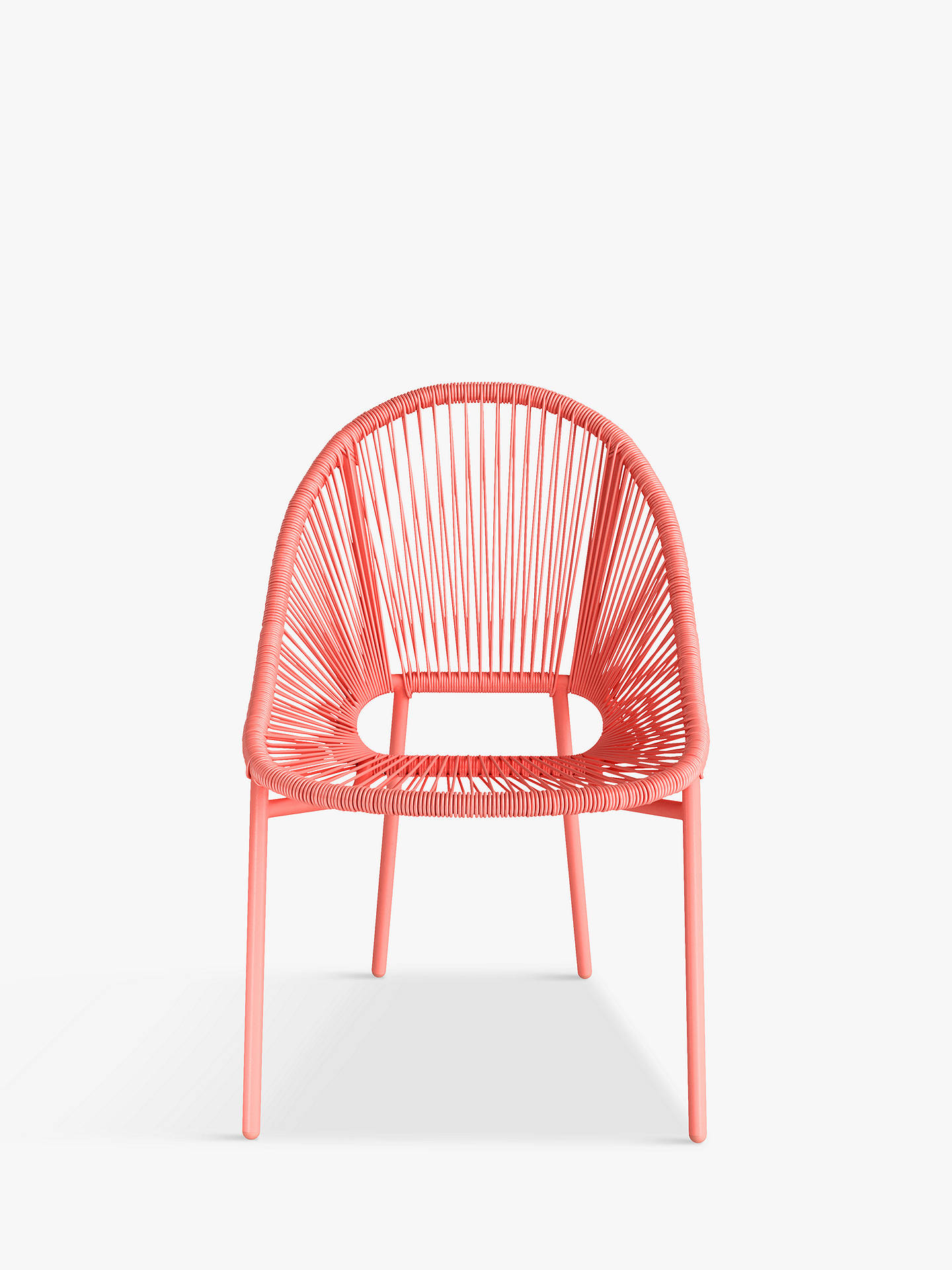 Buy John Lewis & Partners Salsa 4-Seat Round Garden Table & Chairs Set, Coral Online at johnlewis.com