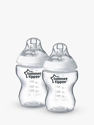 Tommee Tippee Closer To Nature Anti-Colic Baby Bottles, Pack of 2, 260ml