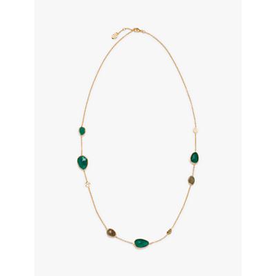 John Lewis & Partners Gemstones Half Stones Long Chain Necklace