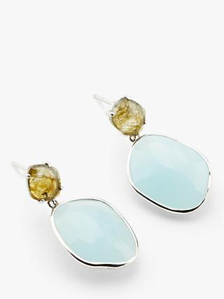 John Lewis & Partners Gemstones Irregular Double Drop Earrings