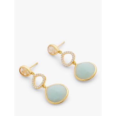John Lewis & Partners Gemstones Triple Drop Earrings