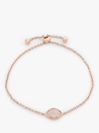 John Lewis & Partners Gemstones Small Stone Toggle Chain Bracelet