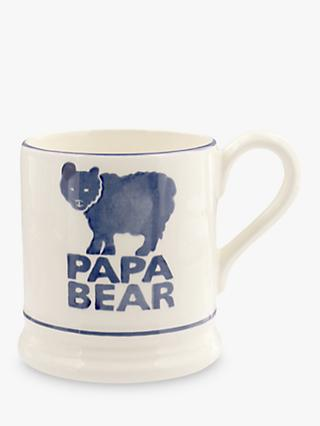 Emma Bridgewater Papa Bear Dad Half Pint Mug, 310ml, Blue/White
