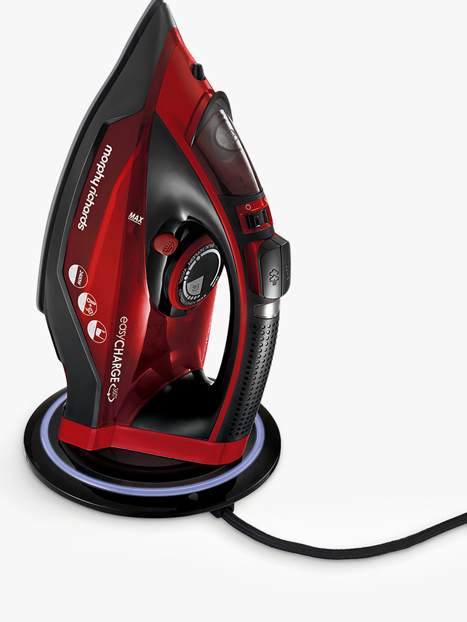Morphy Richards Morphy Richards 303250 EasyCharge Cordless Iron, Red